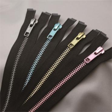 Dual Color Metal Zipper