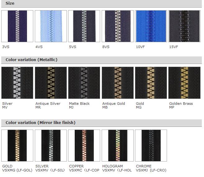 Zipper : VISLON® Standard